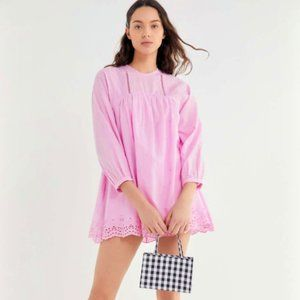 Urban Outfitters beatrice eyelet babydoll romper
